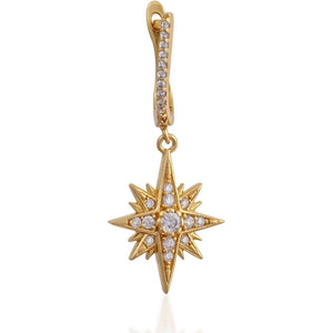 Single starburst gold vermeil earring - GALLERIA ARMADORO