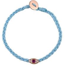 Load image into Gallery viewer, Small evil eye pink gold pated braided bracelet - GALLERIA ARMADORO