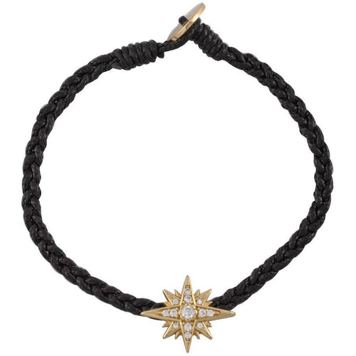 Starburst gold plated braided bracelet - GALLERIA ARMADORO
