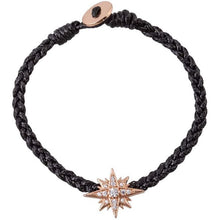 Load image into Gallery viewer, Starburst pink gold plated braided bracelet - GALLERIA ARMADORO