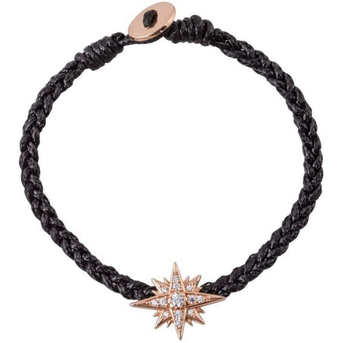 Starburst pink gold plated braided bracelet
