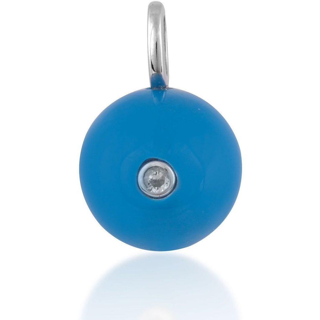 Turquoise 12mm ball pendant in sterling silver - GALLERIA ARMADORO