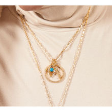 Load image into Gallery viewer, Turquoise evil eye gold vermeil charm - GALLERIA ARMADORO