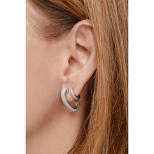 Load image into Gallery viewer, Pin sterling silver pave single earring
