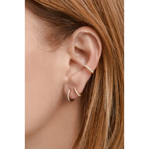 Medium gold vermeil opal earcuff