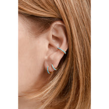Load image into Gallery viewer, Medium gold vermeil turquoise earcuff