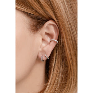 Medium sterling silver earcuff