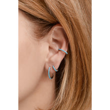 Load image into Gallery viewer, Medium sterling silver turquoise earcuff