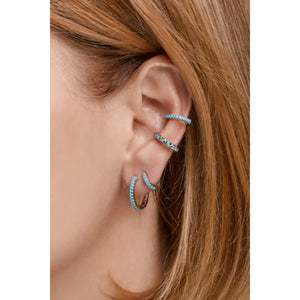 Medium sterling silver turquoise earcuff