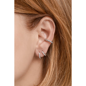 Large sterling silver ear cuff