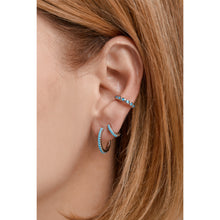 Load image into Gallery viewer, Large sterling silver ear turquoise cuff