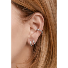 Load image into Gallery viewer, Large sterling silver opal ear cuff