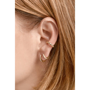 Large gold vermeil ear cuff