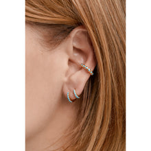 Load image into Gallery viewer, Large gold vermeil turquoise ear cuff