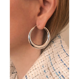 Ellie silver hoops