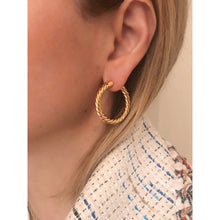 Load image into Gallery viewer, Nina 3 cm gold vermeil hoops