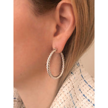 Load image into Gallery viewer, Nina 4 cm silver hoops