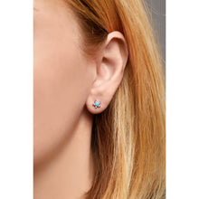 Load image into Gallery viewer, Star turquoise & opal sterling silver stud (ball screw)