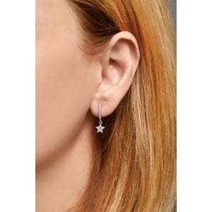 Hanging star sterling silver earring