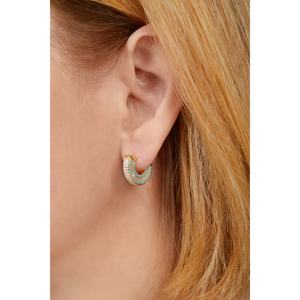 Ada gold vermeil turquoise earring