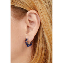 Load image into Gallery viewer, Tiara lapis sterling silver earring