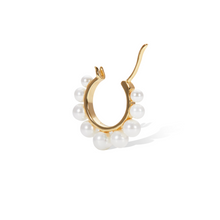 Load image into Gallery viewer, Tiara pearl gold vermeil earring