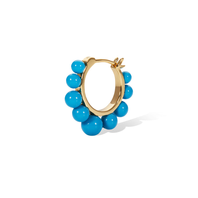 Tiara turquoise gold vermeil earring