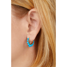 Load image into Gallery viewer, Tiara turquoise gold vermeil earring