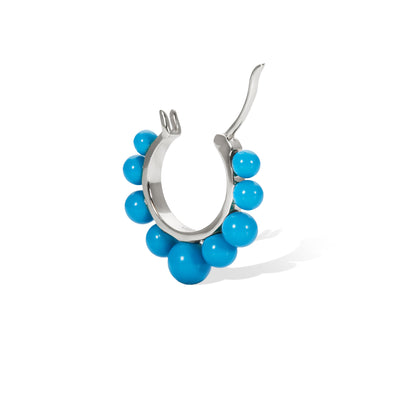 Tiara turquoise sterling silver earring