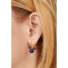 Load image into Gallery viewer, Maya lapis gold vermeil earring