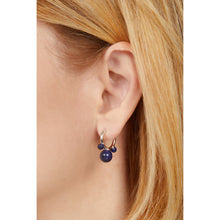 Load image into Gallery viewer, Maya lapis sterling silver earring