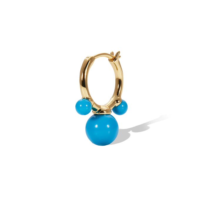 Maya turquoise gold vermeil earring