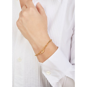 Large link anklet/bracelet gold plated