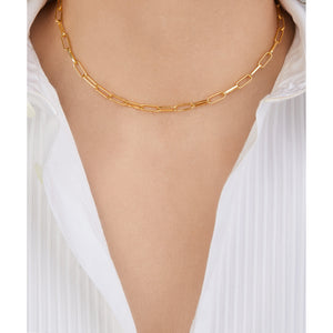 Large link chain gold plated