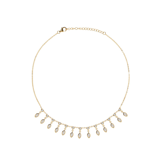 Trilion gold vermeil shaker necklace