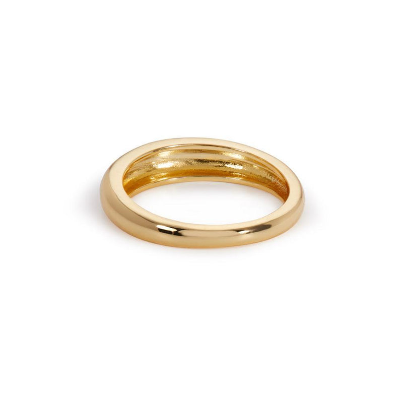 Lara band gold vermeil ring