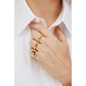 Simple band gold vermeil ring