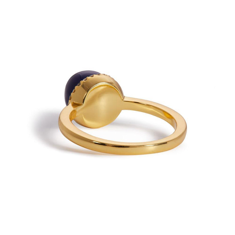 Ball lapis gold vermeil ring