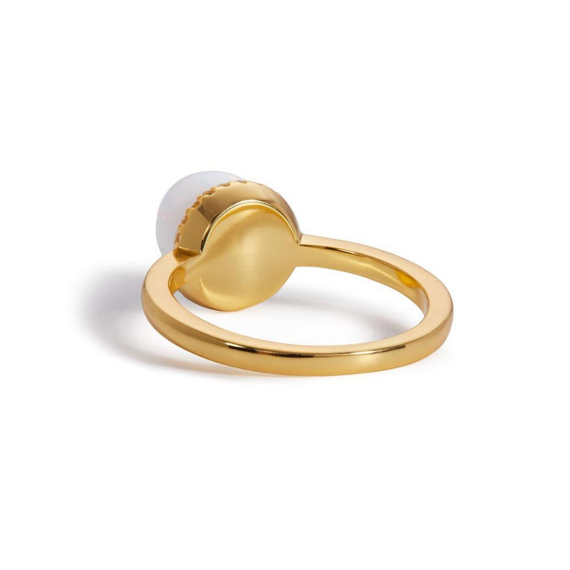 Ball opal gold vermeil ring