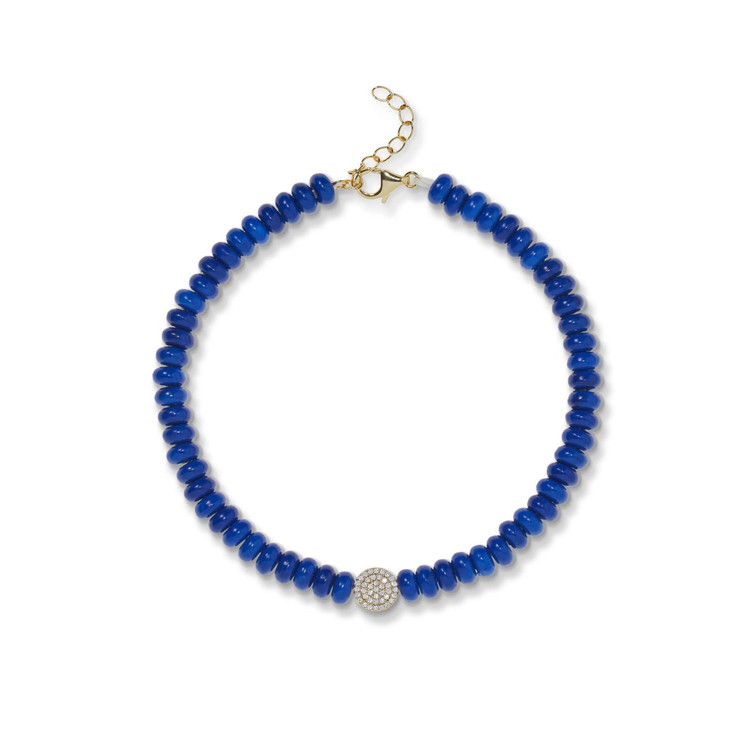6,5 mm lapis bead anklet