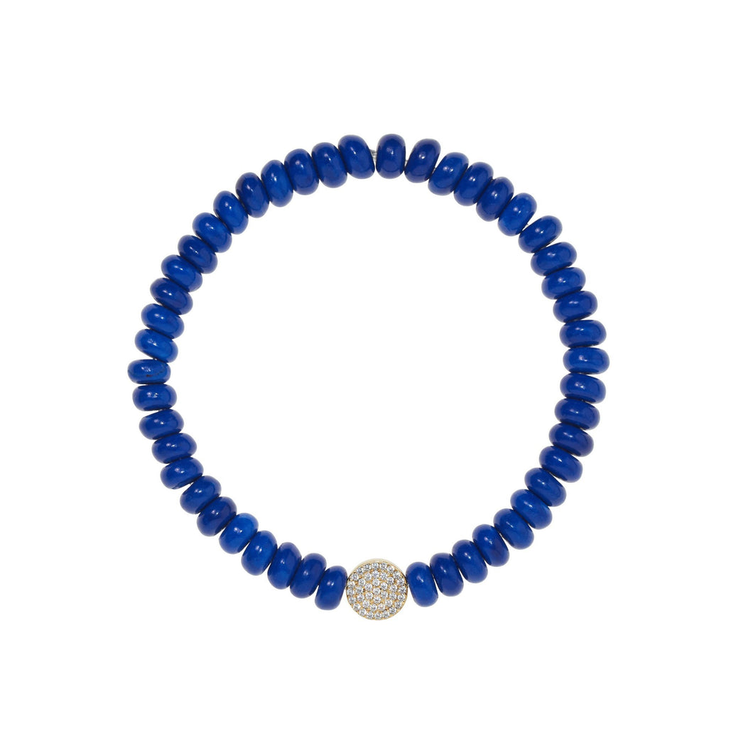 6,5 mm lapis bead bracelet