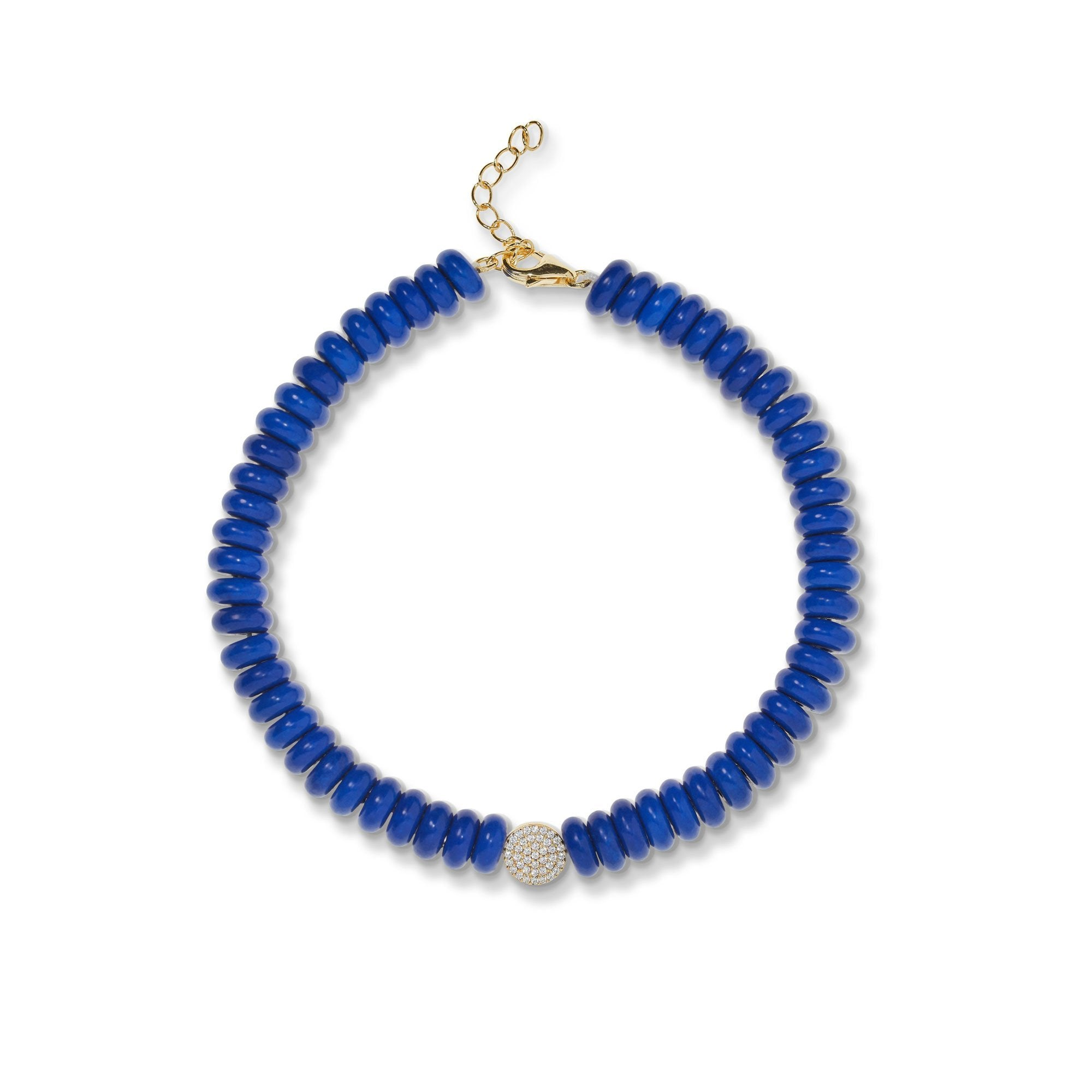 8,3 mm lapis bead anklet