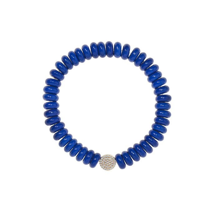 8,3 mm lapis bead bracelet
