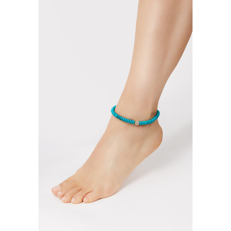 8,3 mm turquoise anklet