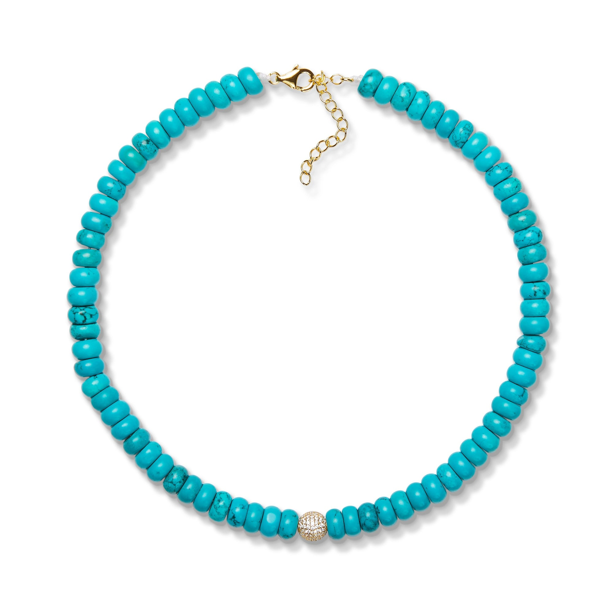 8,3mm turquoise bead necklace