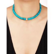 Load image into Gallery viewer, 8,3mm turquoise bead necklace
