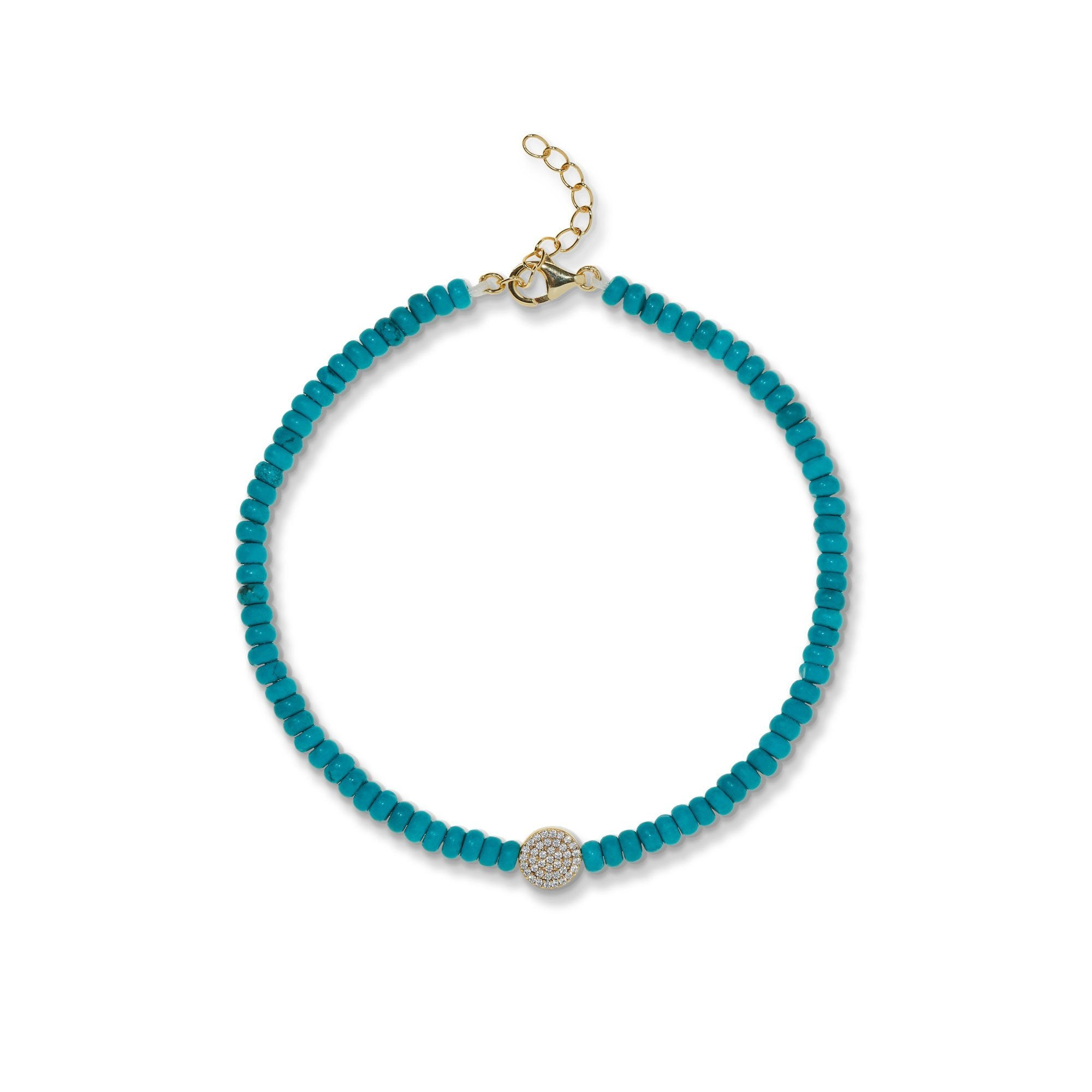 Image of 4,5 mm turquoise anklet