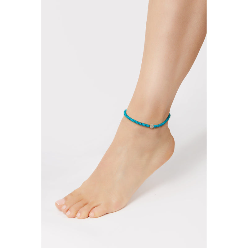 4,5 mm turquoise anklet