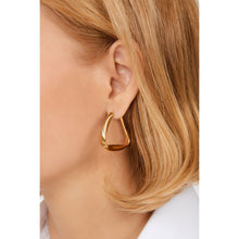 Load image into Gallery viewer, Loulou gold vermeil hoops