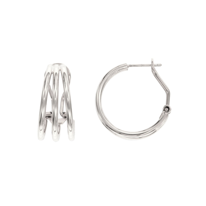Chloe sterling silver hoops